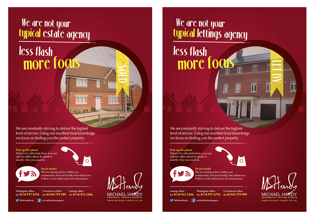 Print adverts to run over a 3 month campaign in both local newspapers and magazines
