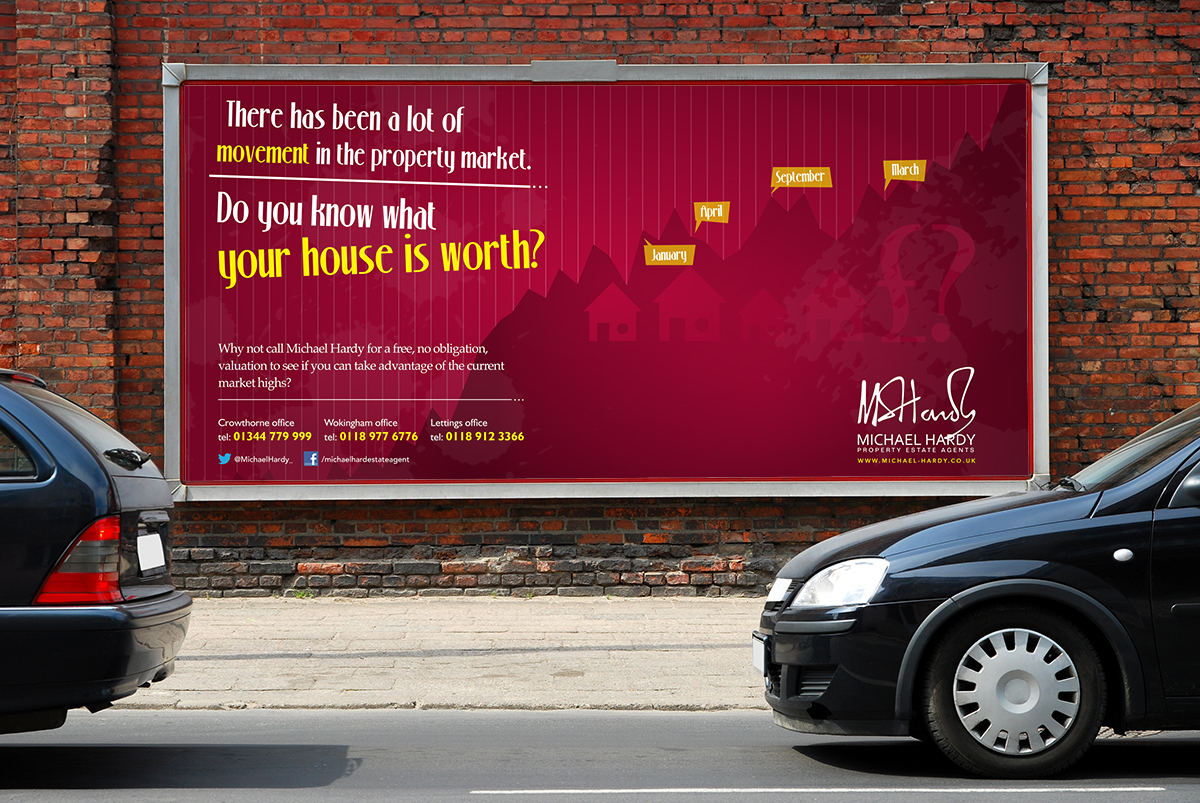 Billboard advert to be displayed in Crowthorne, Berkshire
