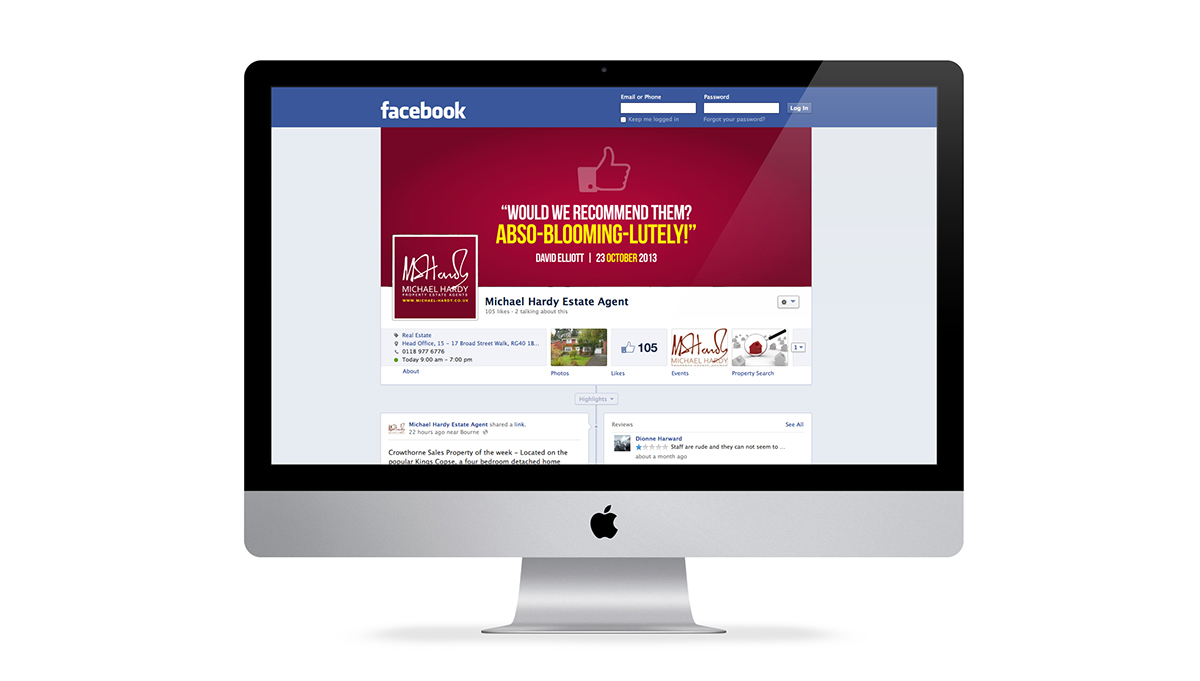 Facebook graphics, to keep the look of the campaign consistent, especially if a visitor is there because they saw an advert