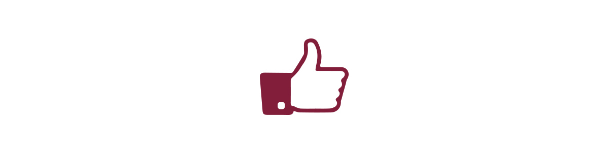 Custom thumbs up logo - playing on the Social Media push