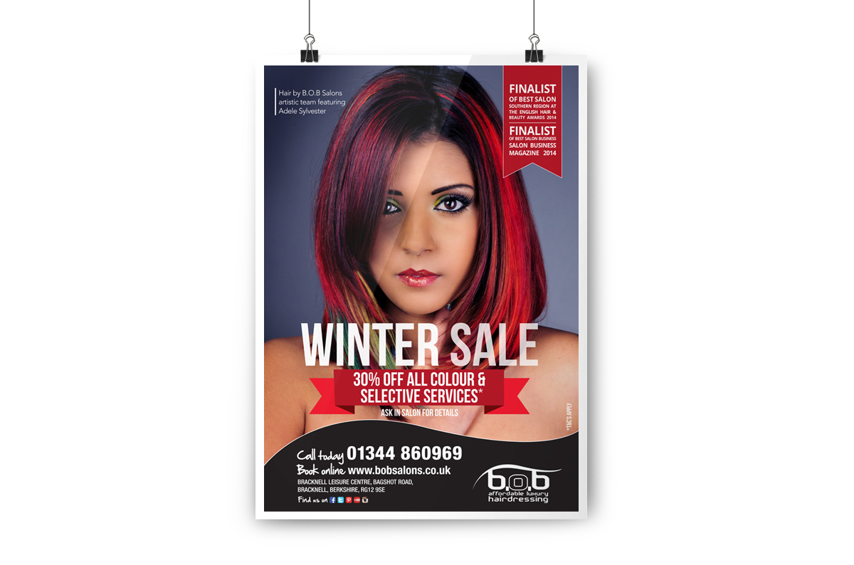 Large scale A1 poster for salon display