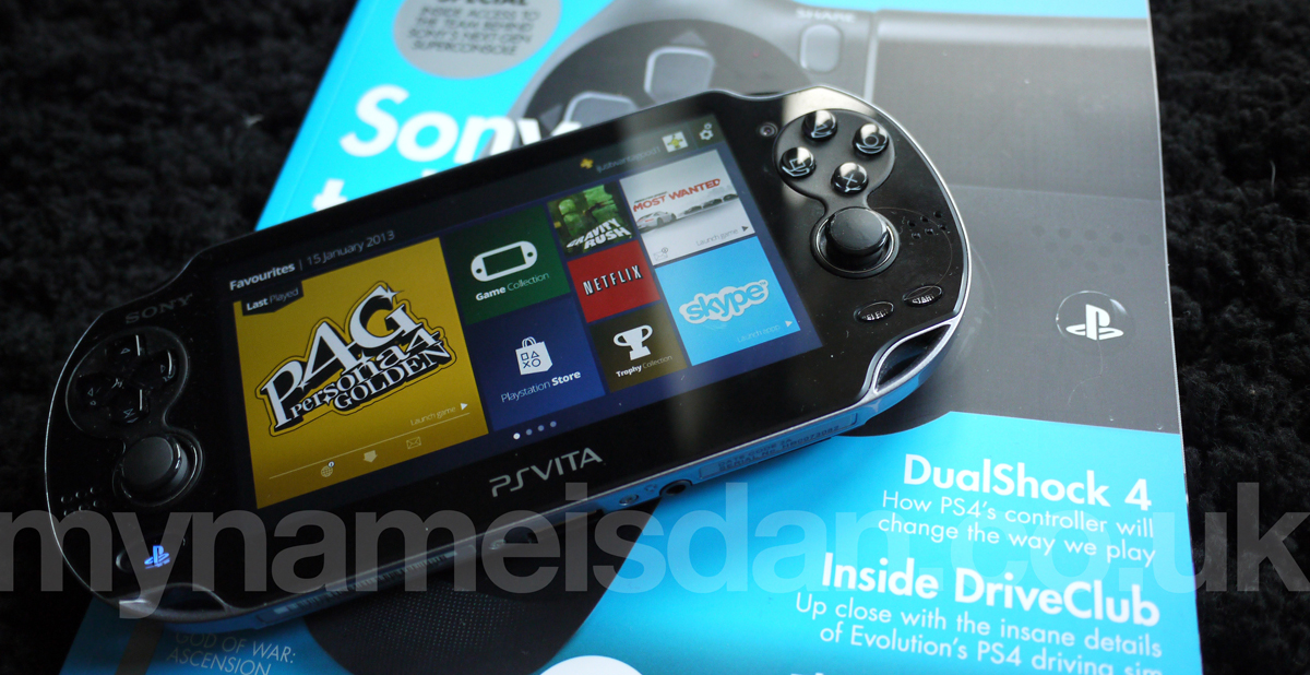 Using the PS Vita photo viewer app, I mocked up my user interface onto the screen - looks good I think.