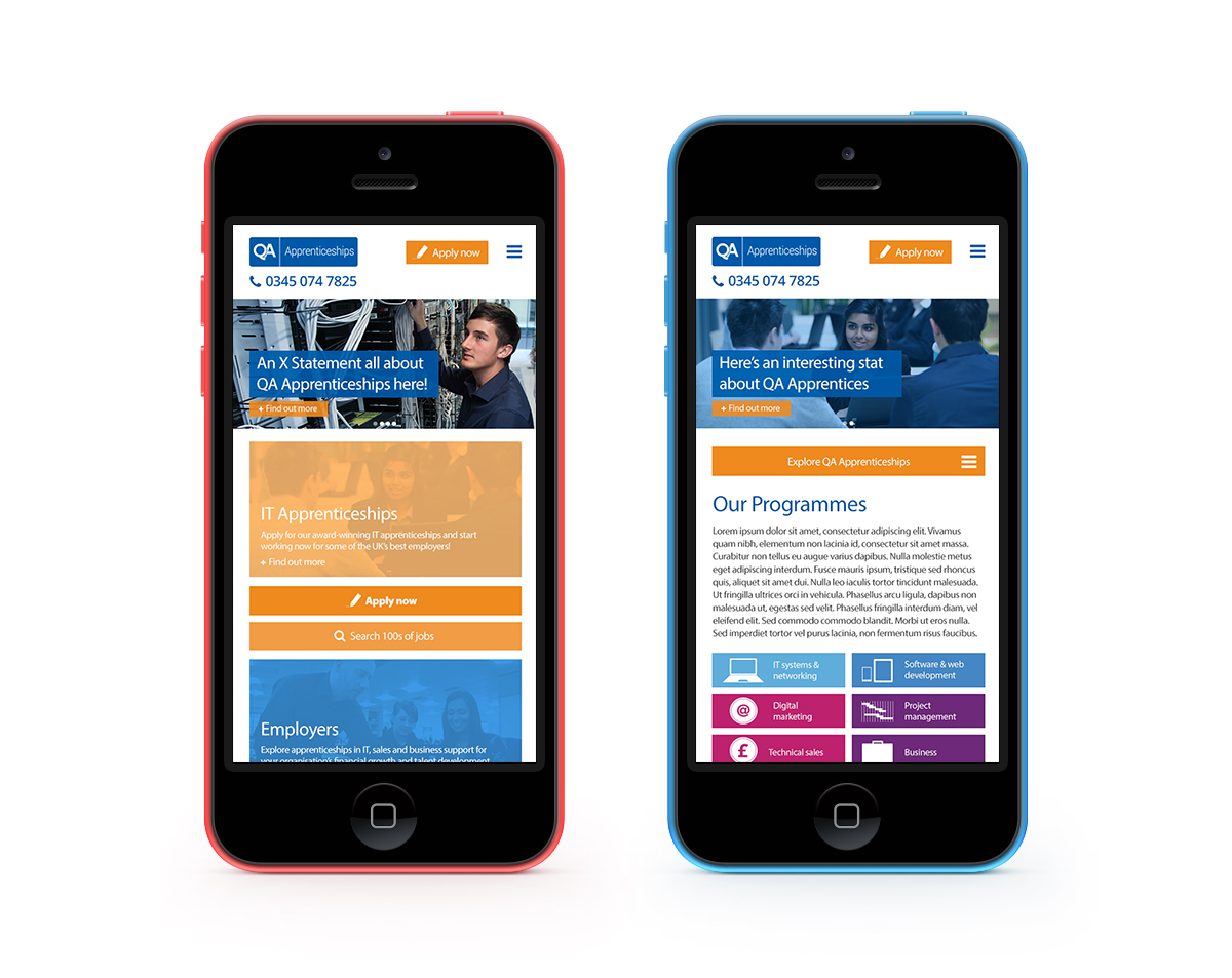 The new design has been created to stack responsively on mobile