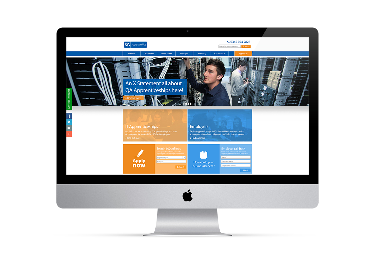 QA Apprenticeships website Template Redesign