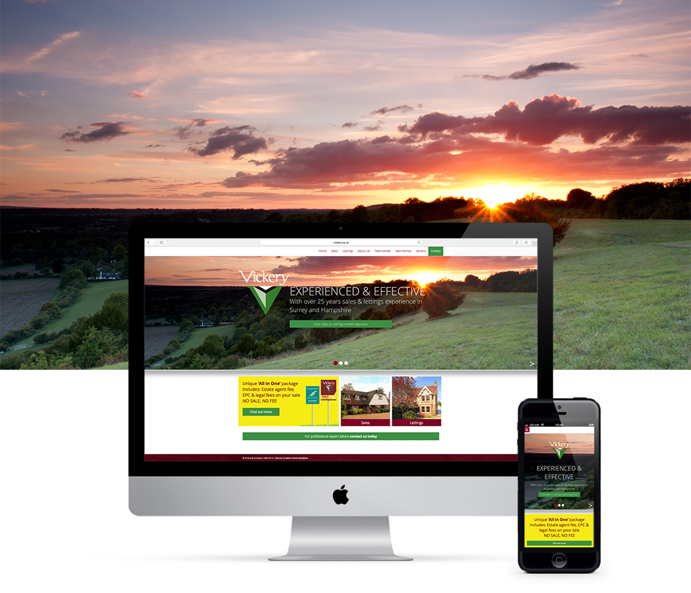 Fully responsive web design & build, giving Vickery a much more modern look and feel.