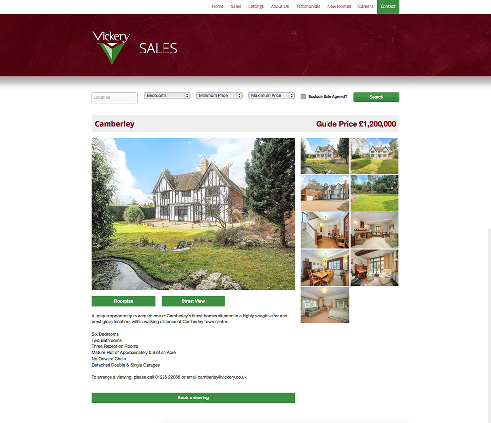 A property template page - served through a Dezrez admin system.