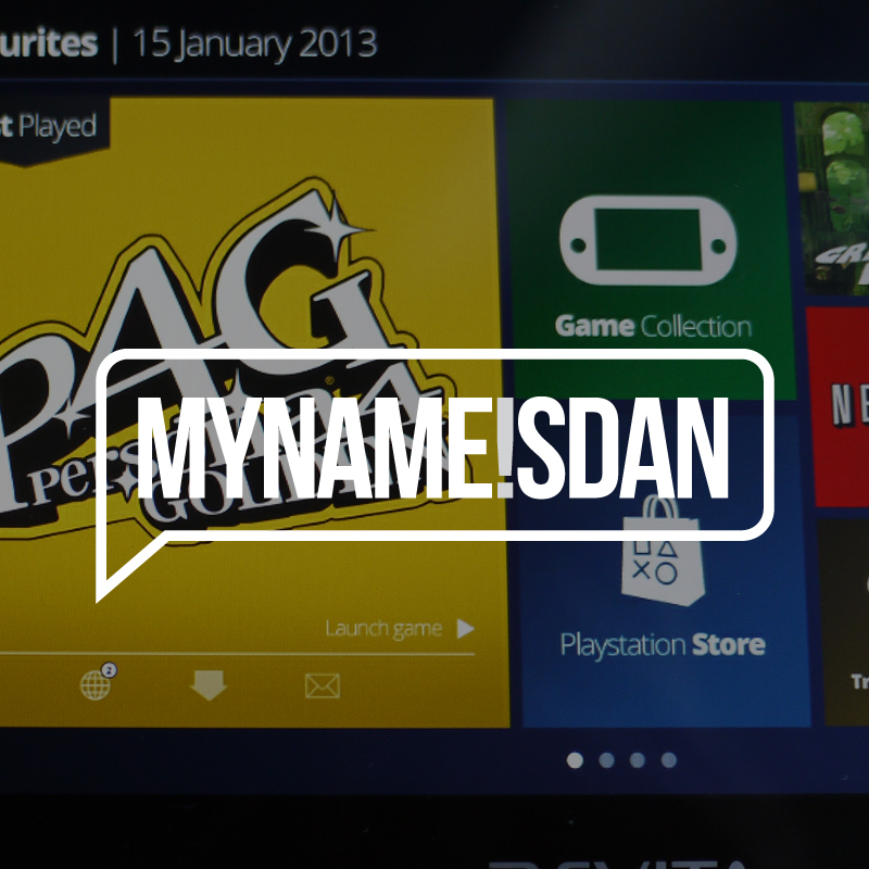 Playstation Vita UI Redesign Personal Project - My Name is Dan