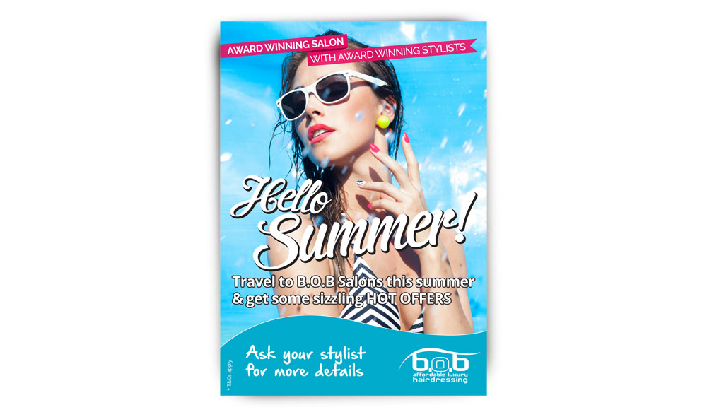 A5 leaflet to promote the Hello Summer campaign.