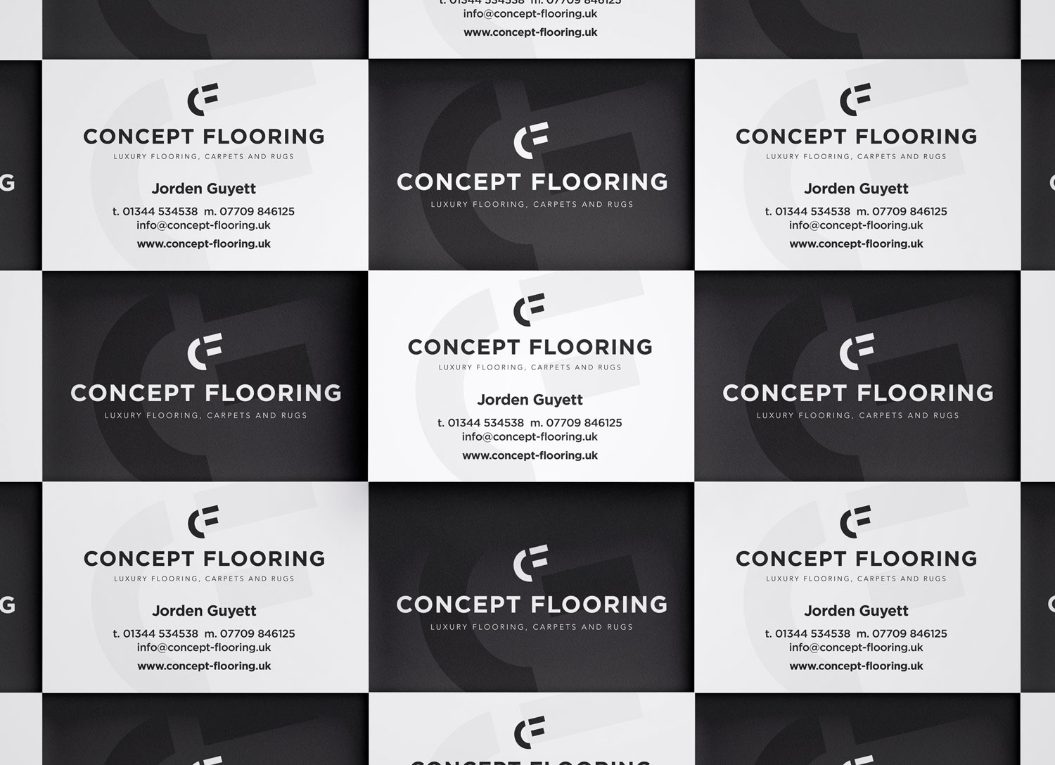 Concept Flooring Business Cards - by My Name is Dan
