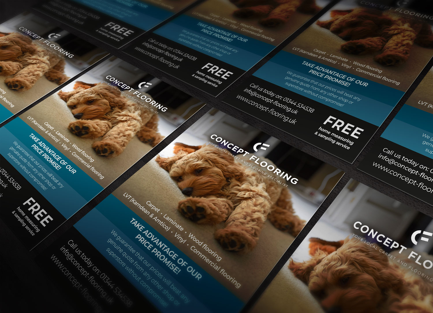 Concept Flooring Leaflets - by My Name is Dan