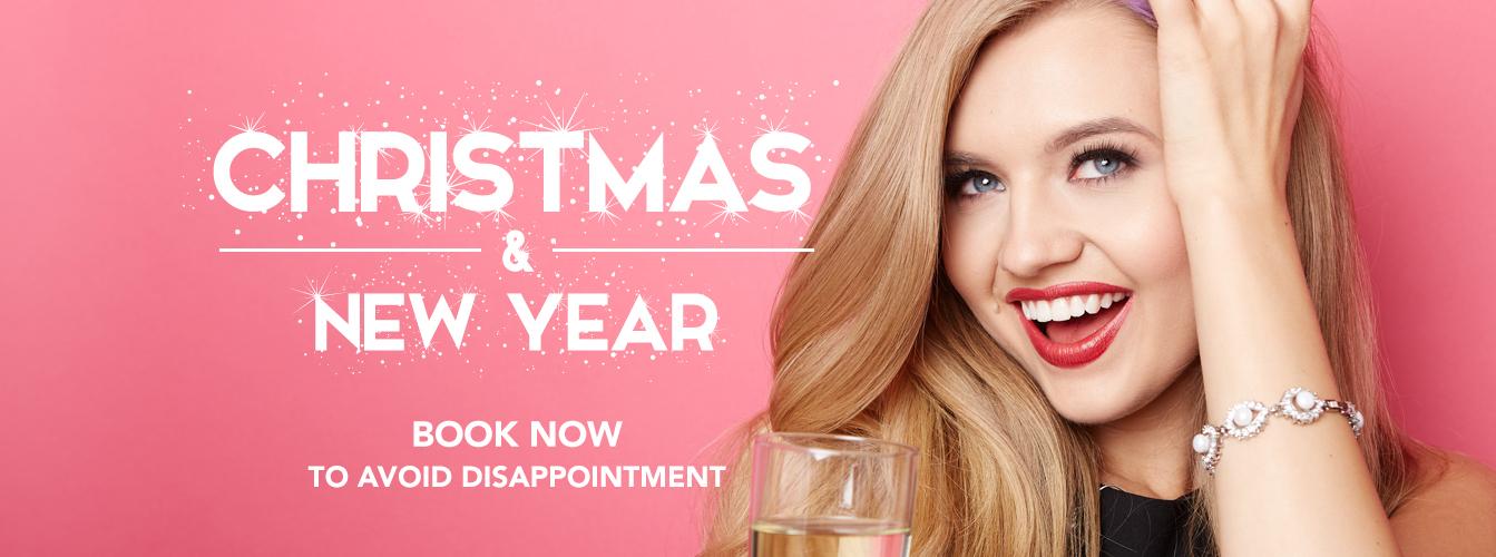 Hair at Monroe's website banner design for Christmas