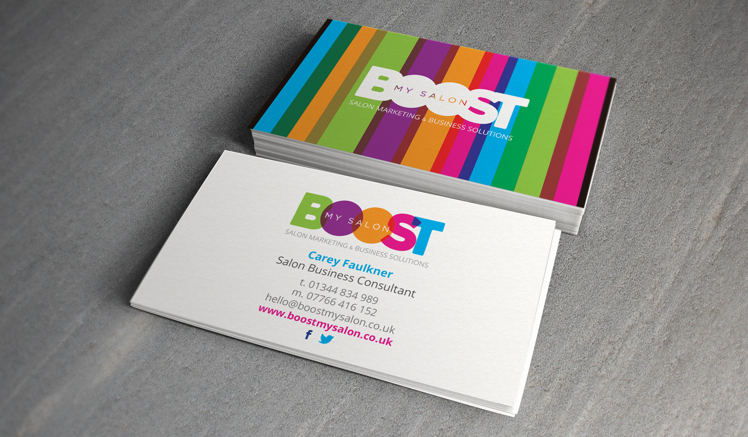 BOOSTmySALON Business Card Designs