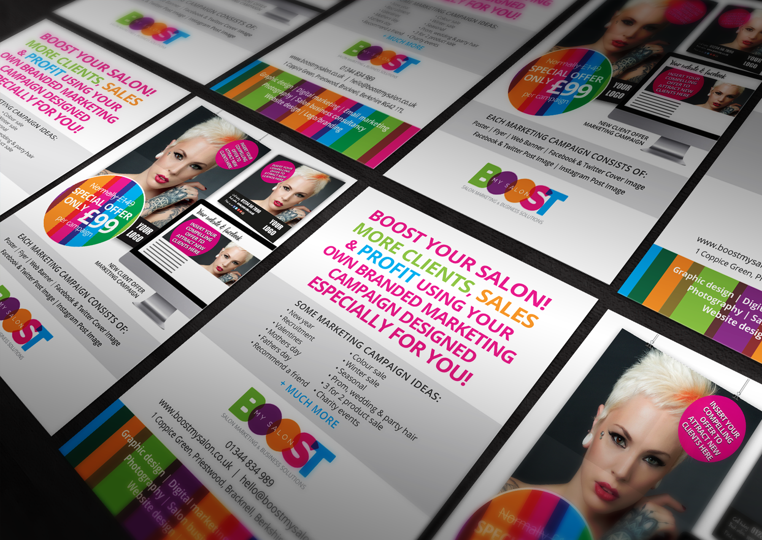 A6 Promotional Leaflet for BOOSTmySALON