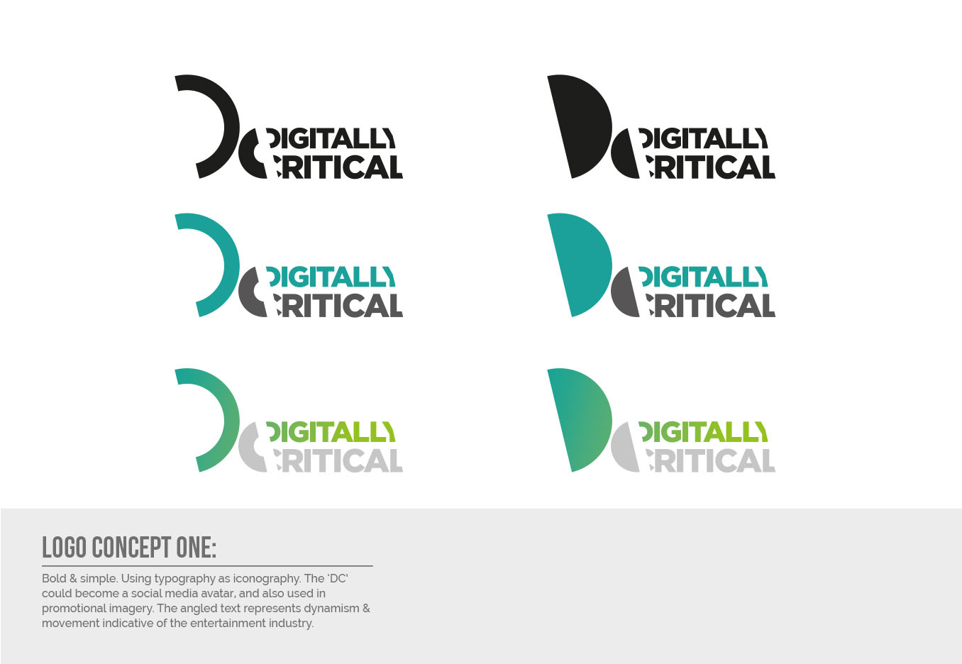 Digitally Critical Logo Design - Concept One