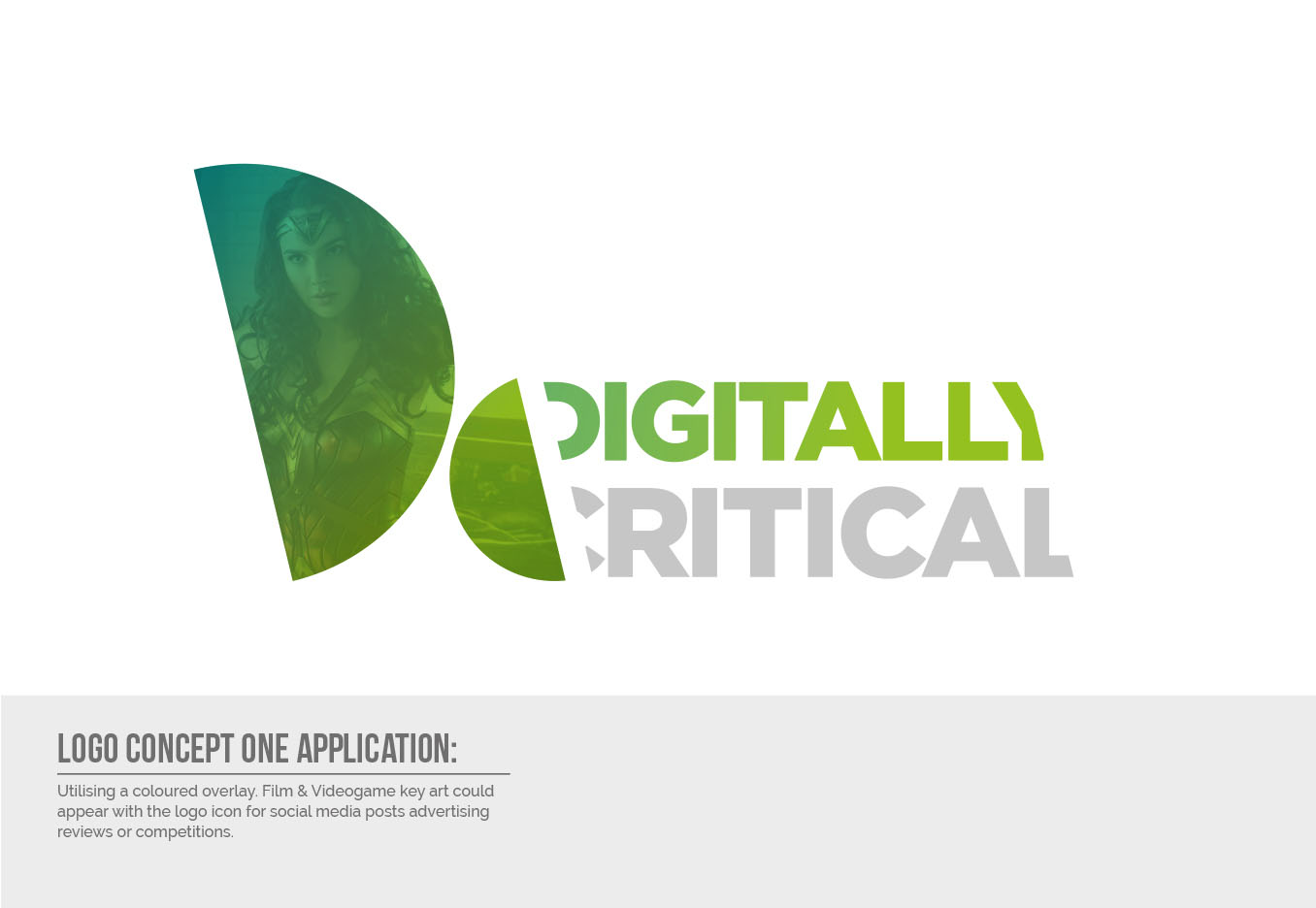 Digitally Critical Logo Design - Concept One Application