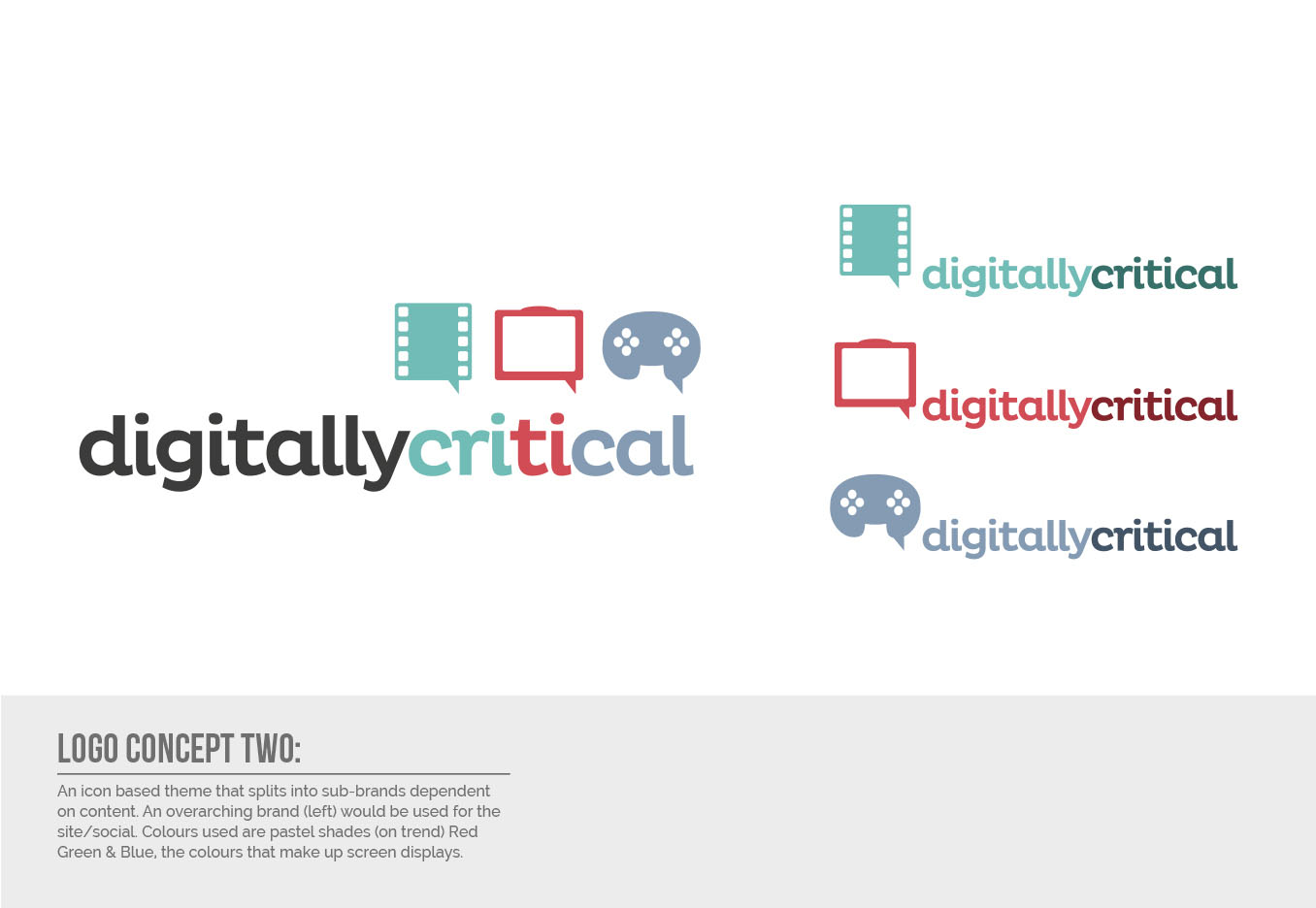 Digitally Critical Logo Design - Concept Two