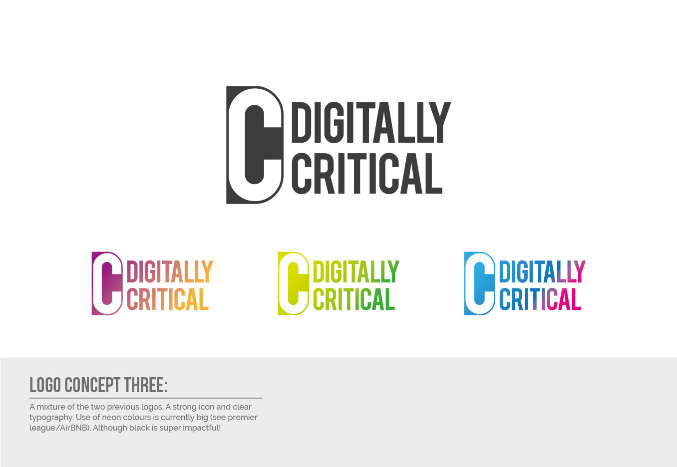 Digitally Critical Logo Design - Concept Three