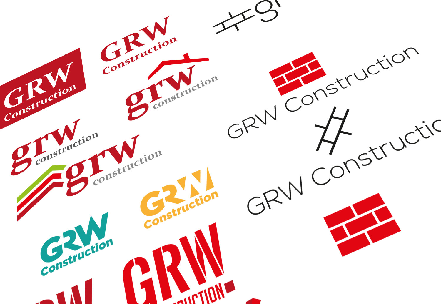 GRW Construction Logo Sketches