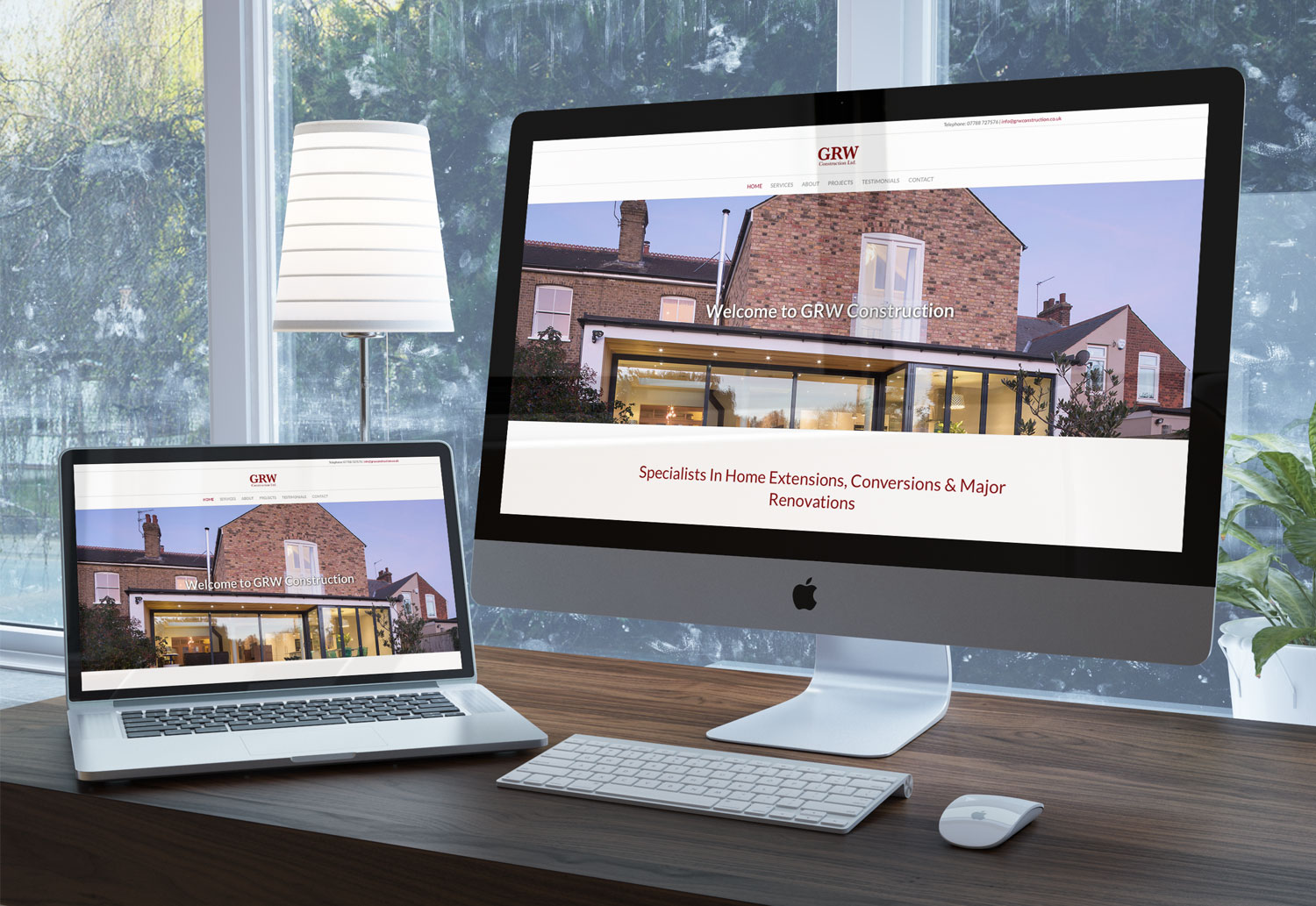 GRW Construction fully responsive website design