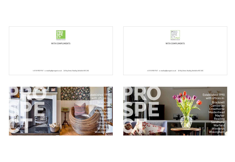 Prospect & PHD rebranded compliment slips