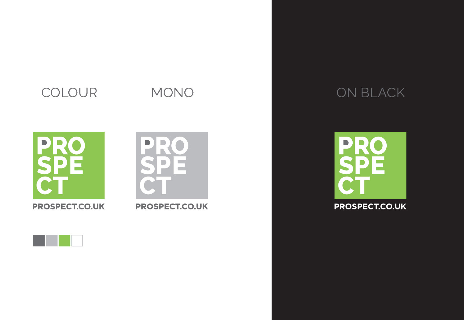 Final logo concepts for the Prospect brand