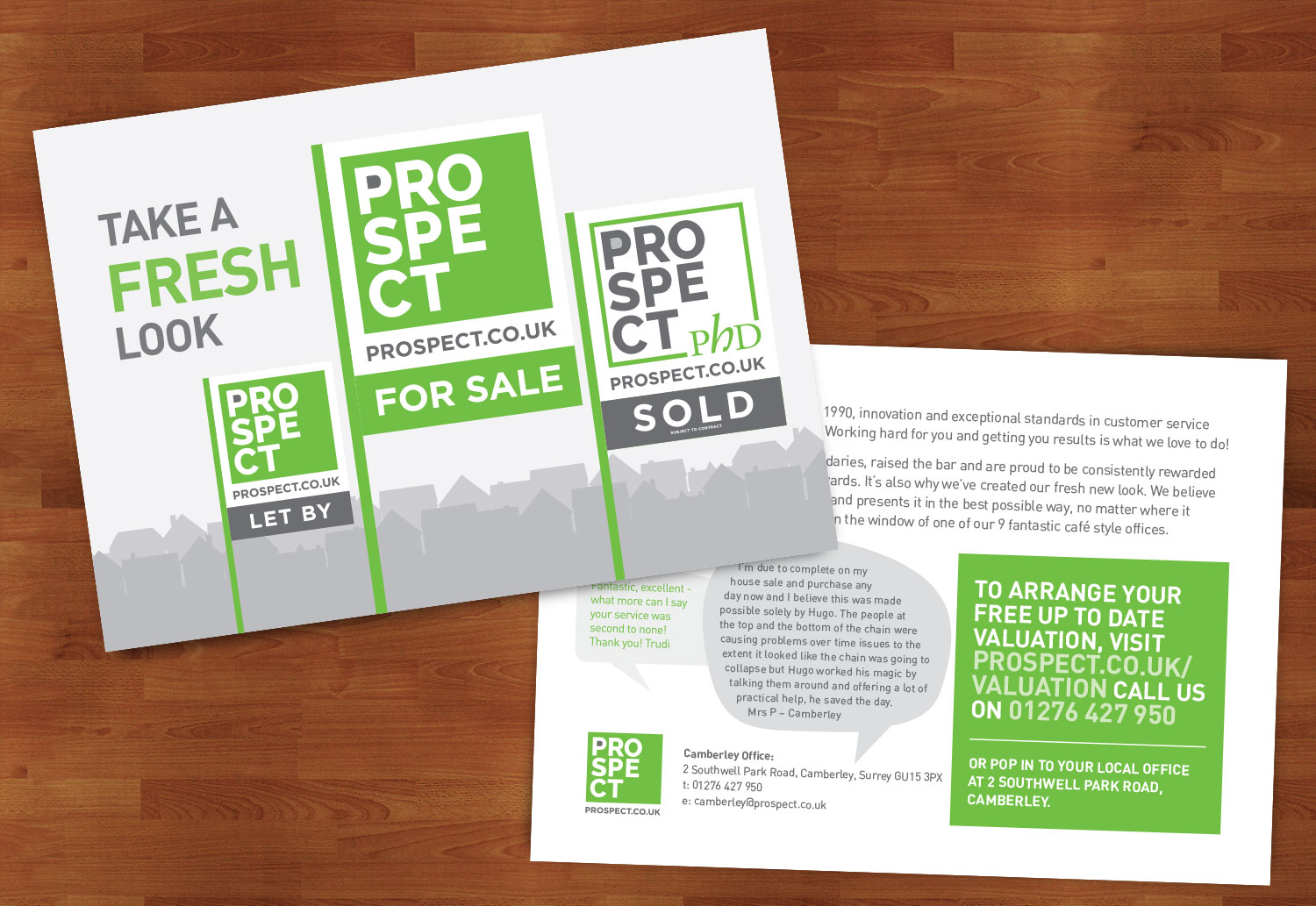 A launch mailer campaign to promote the rebrand