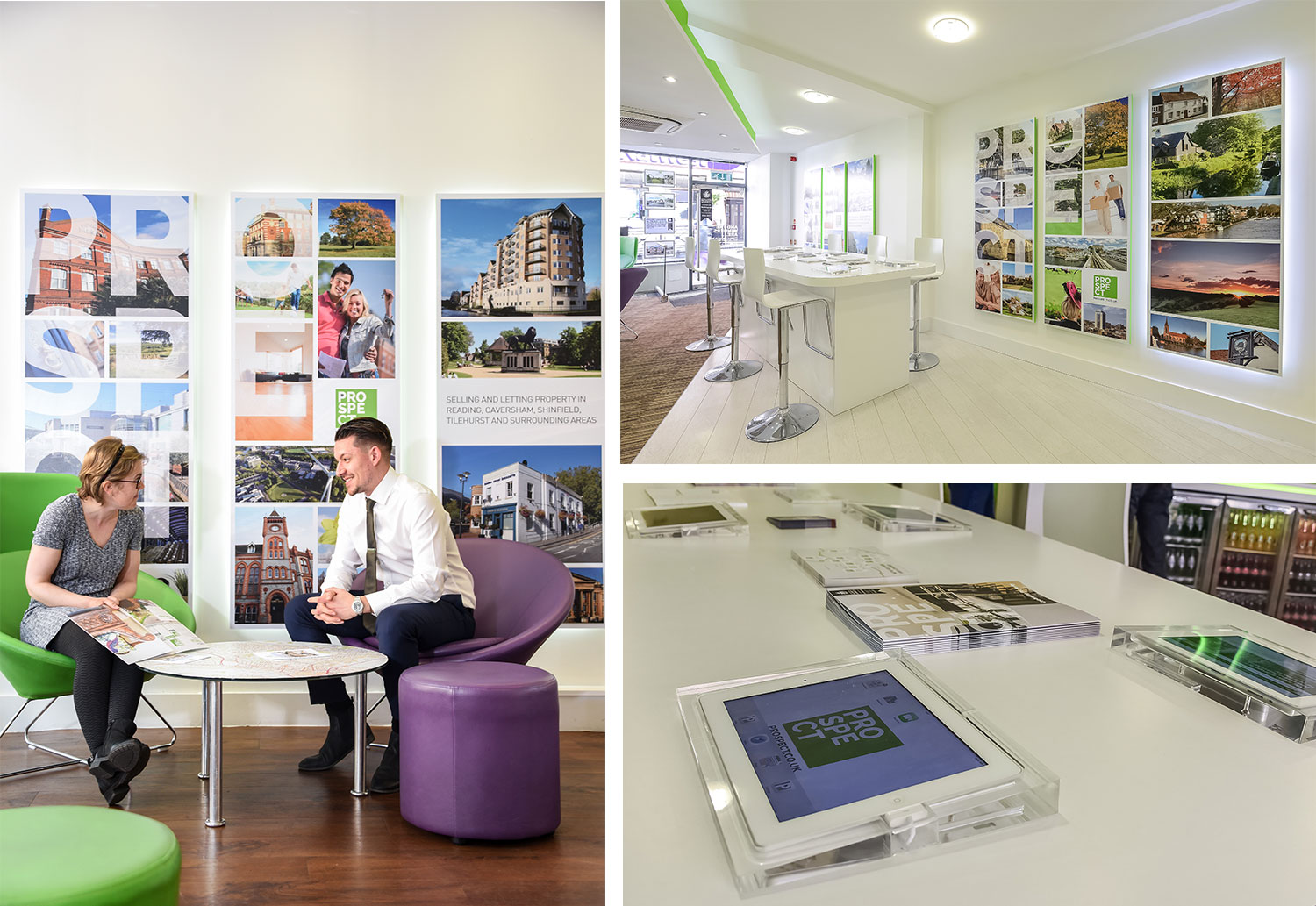 Some images to show how the branding works inside the offices