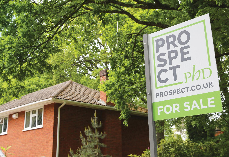 Prospect PHD rebranded for sale board