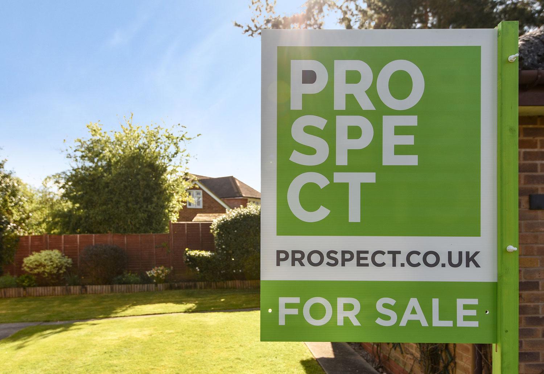 Prospect rebranded for sale board