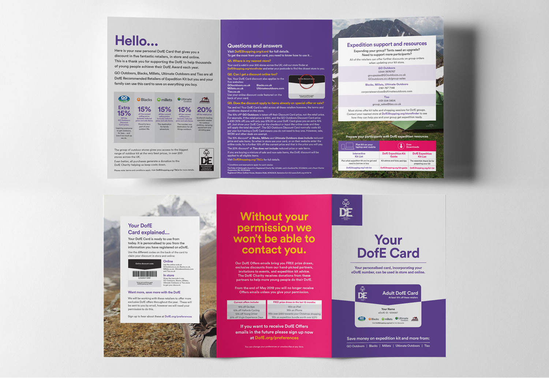 Duke of Edinburgh's Award Reward Card Holder Design - Full View
