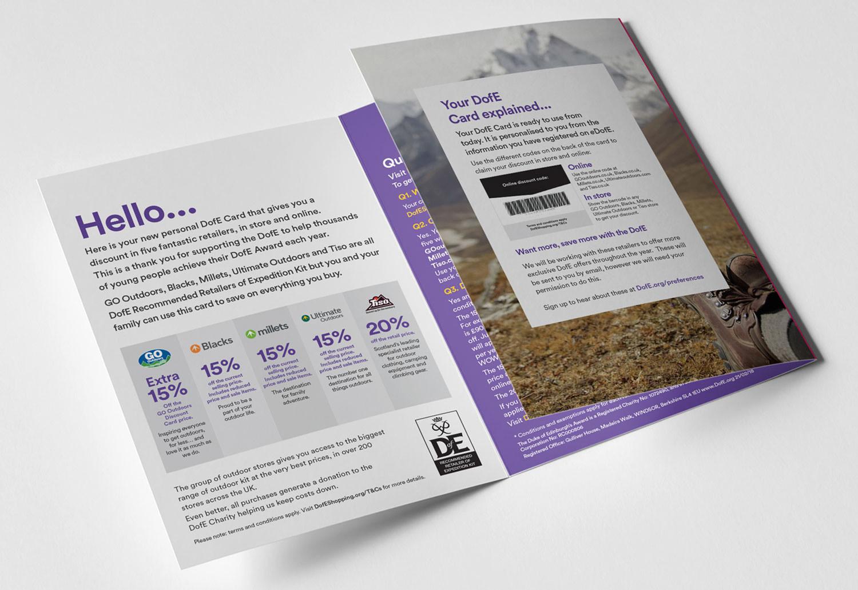 Duke of Edinburgh's Award Reward Card Holder Design - 6pp A5 Leaflet