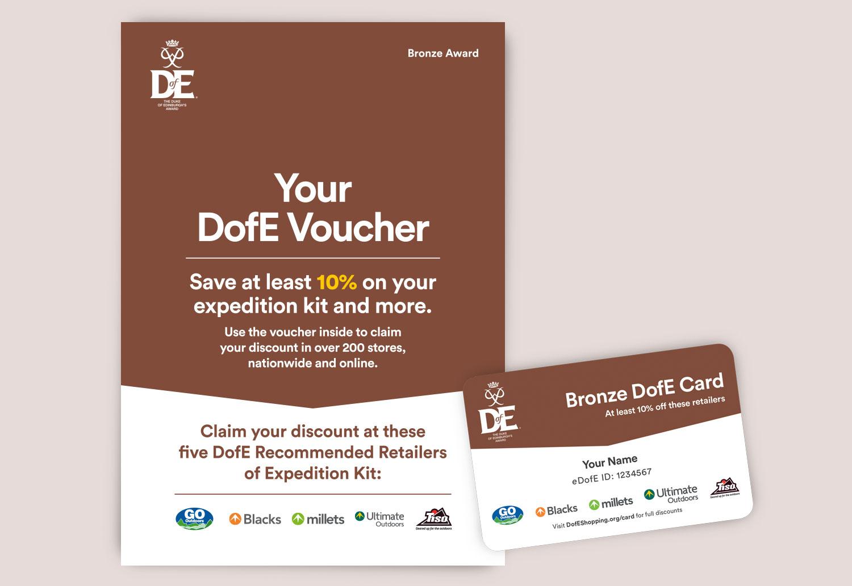 DofE Bronze Voucher Leaflet - 4pp A5