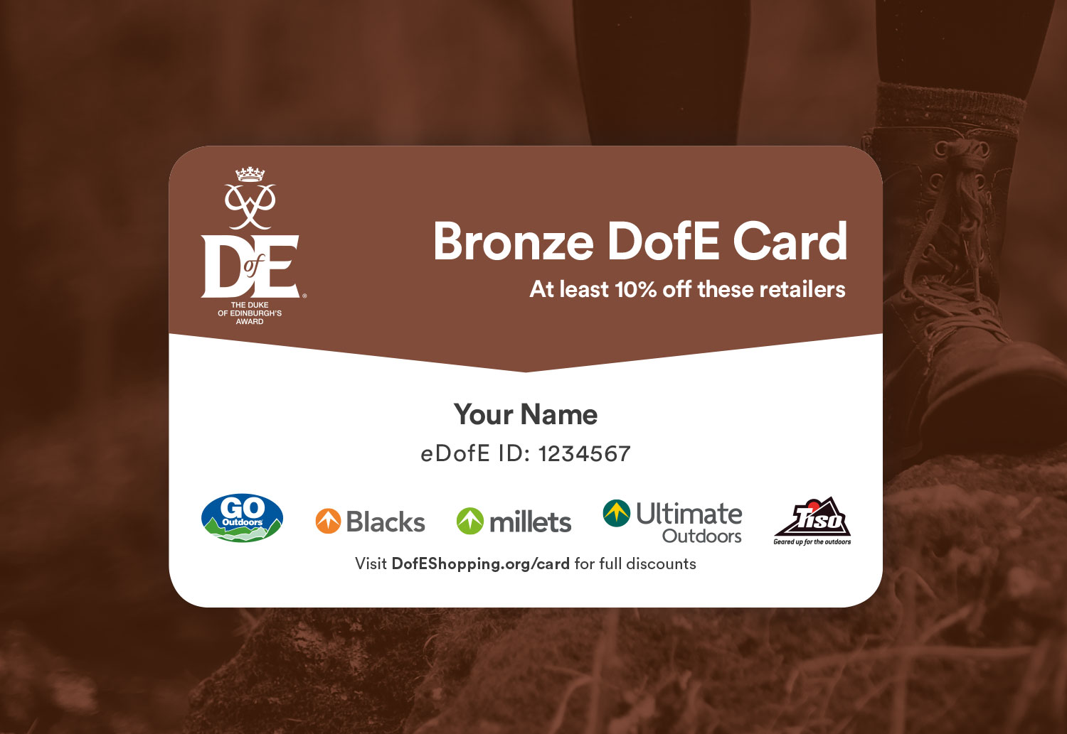 DofE Bronze Reward Card Design