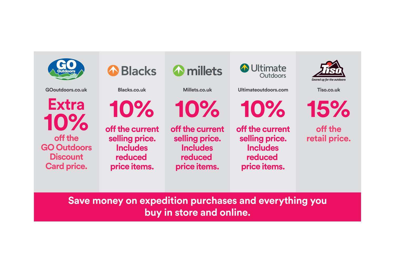 DofE Retailers Discount grid
