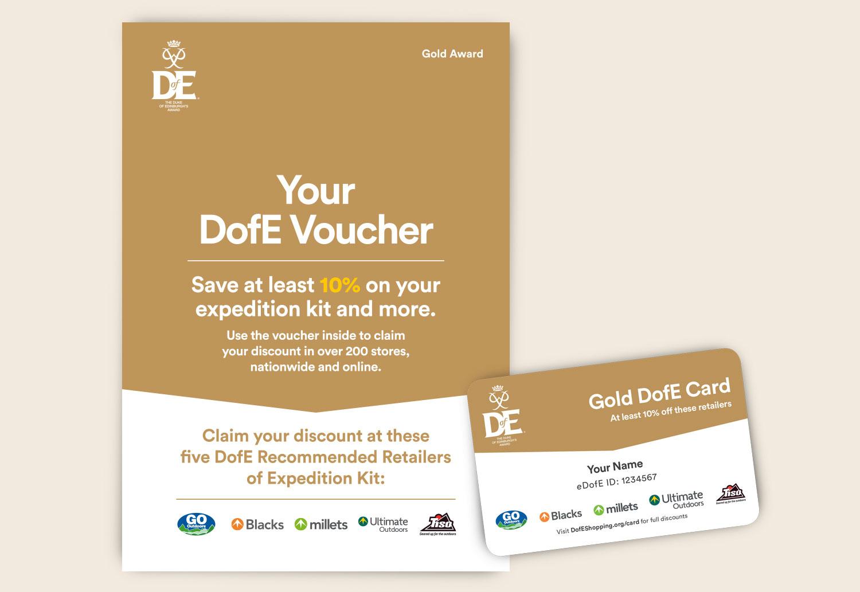 DofE Gold Voucher Leaflet - 4pp A5