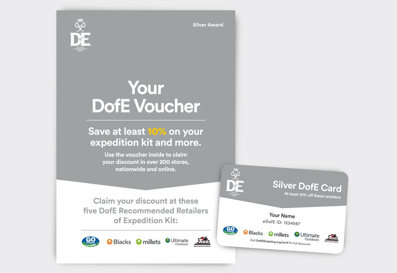 DofE Silver Voucher Leaflet - 4pp A5