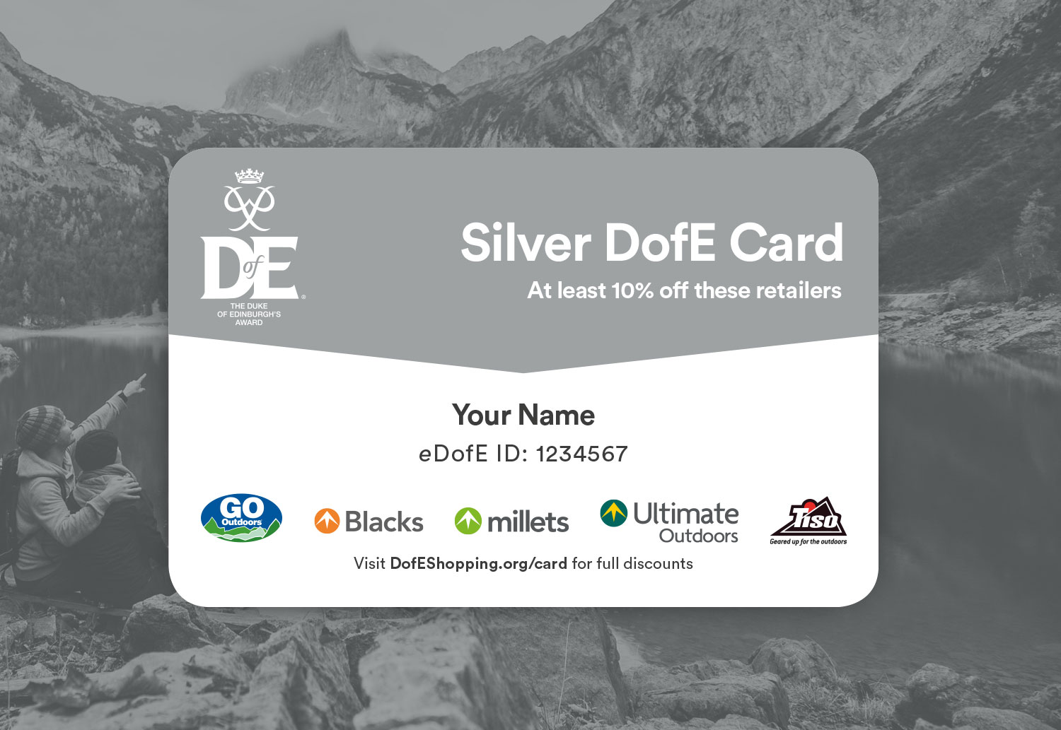 DofE Silver Reward Card Design