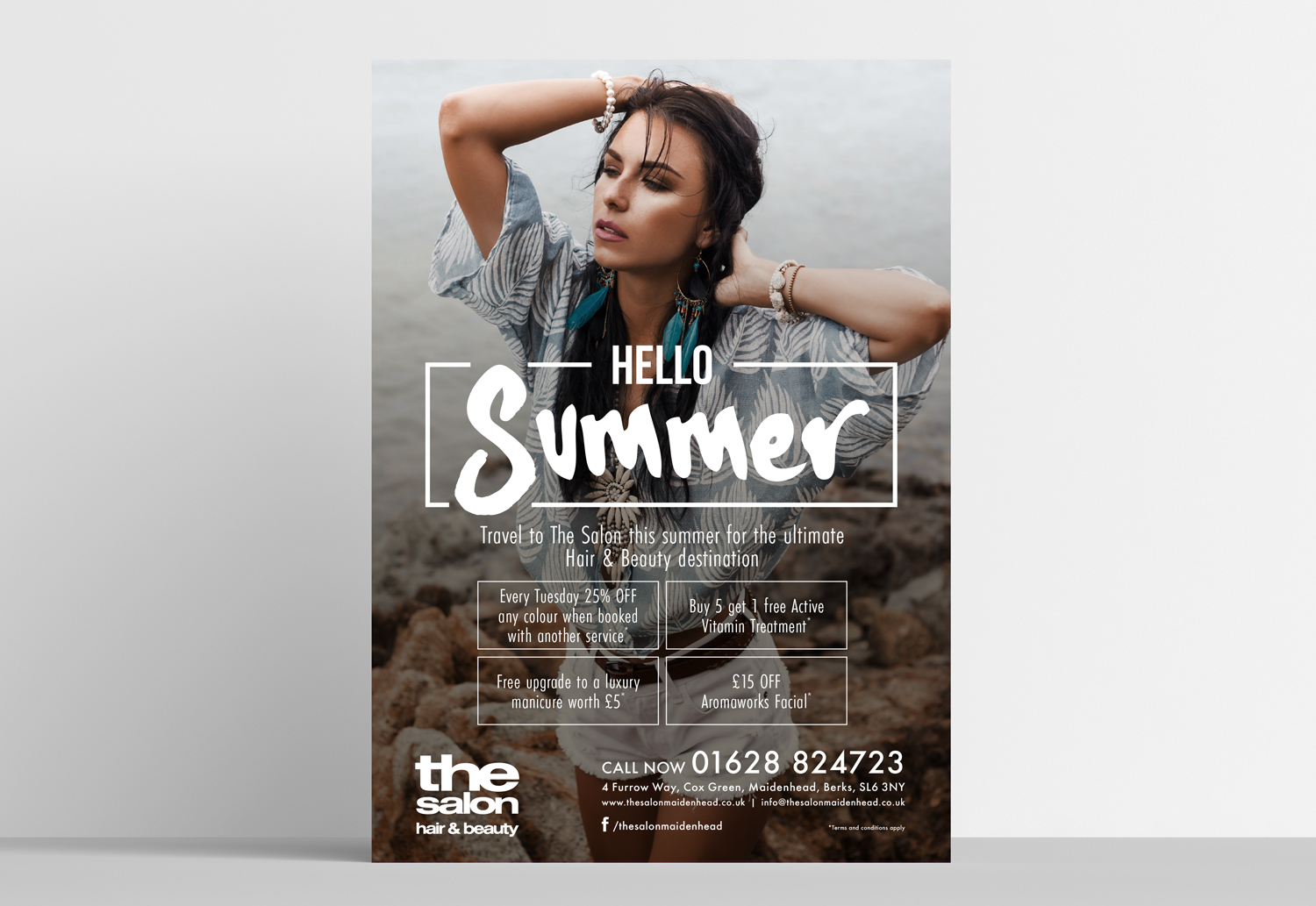 The Salon A1 poster design for Hello Summer Special Offers