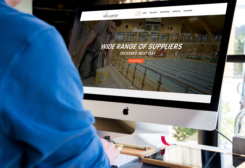 Volante responsive homepage