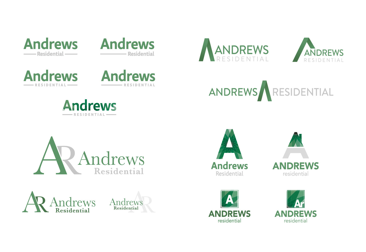 Andrew's Residential Logo Concepts for Corporate Rebrand