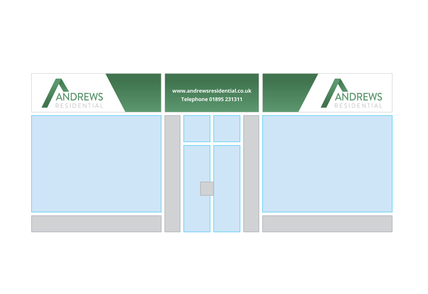 Andrews Residential office signage