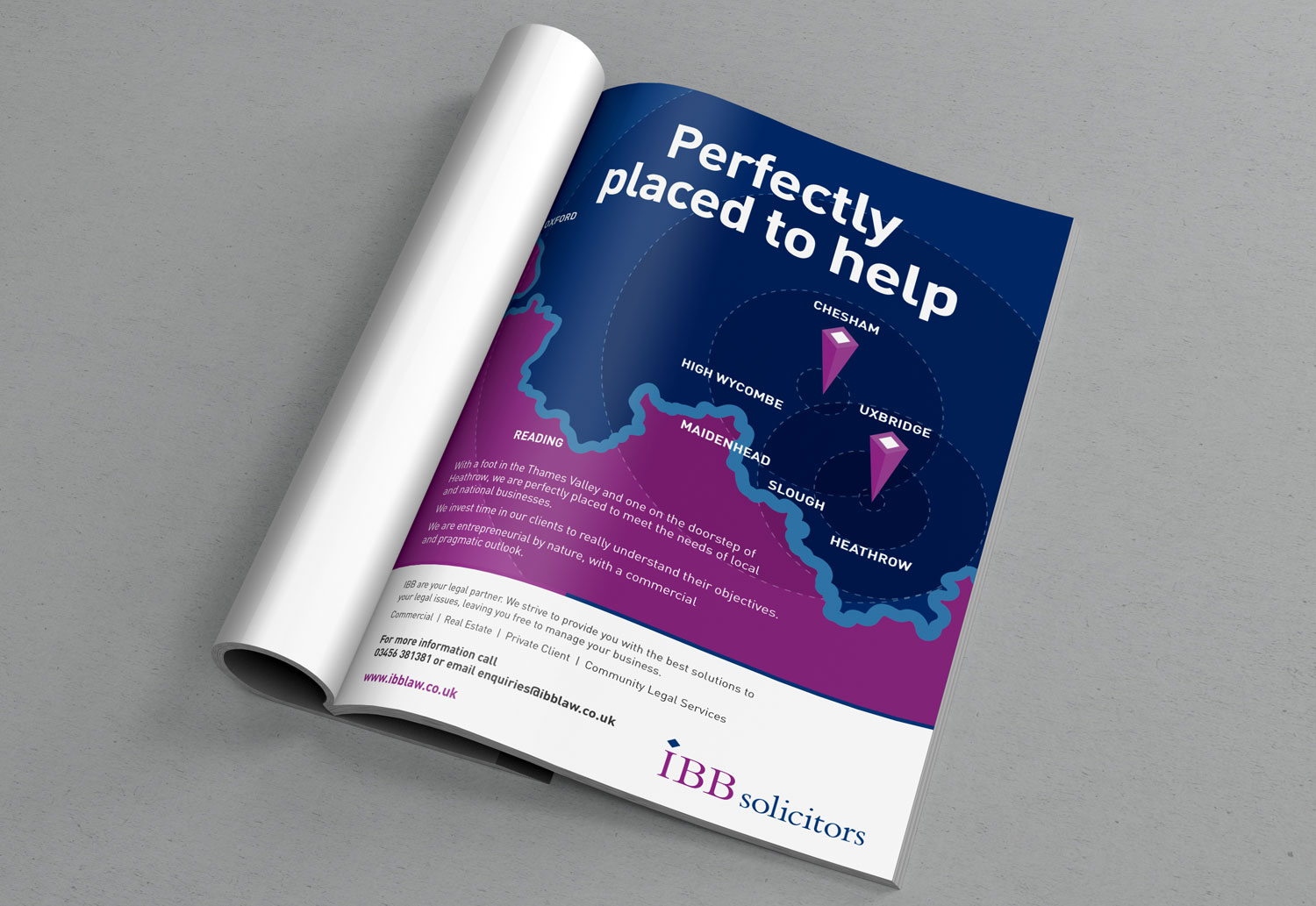 IBB Solicitors Advertising - Perfectly Placed Print Advert