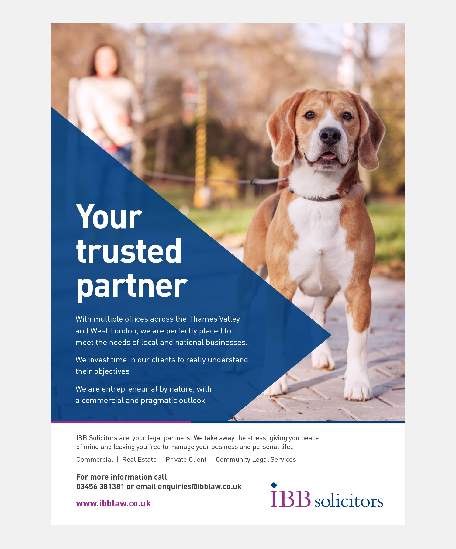 IBB Solicitors Advertising - Your Trusted Partner Print Advert