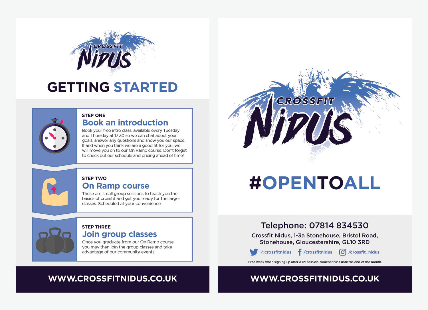 My Name is Dan Getting Started with Crossfit Leaflet for Crossfit Nidus