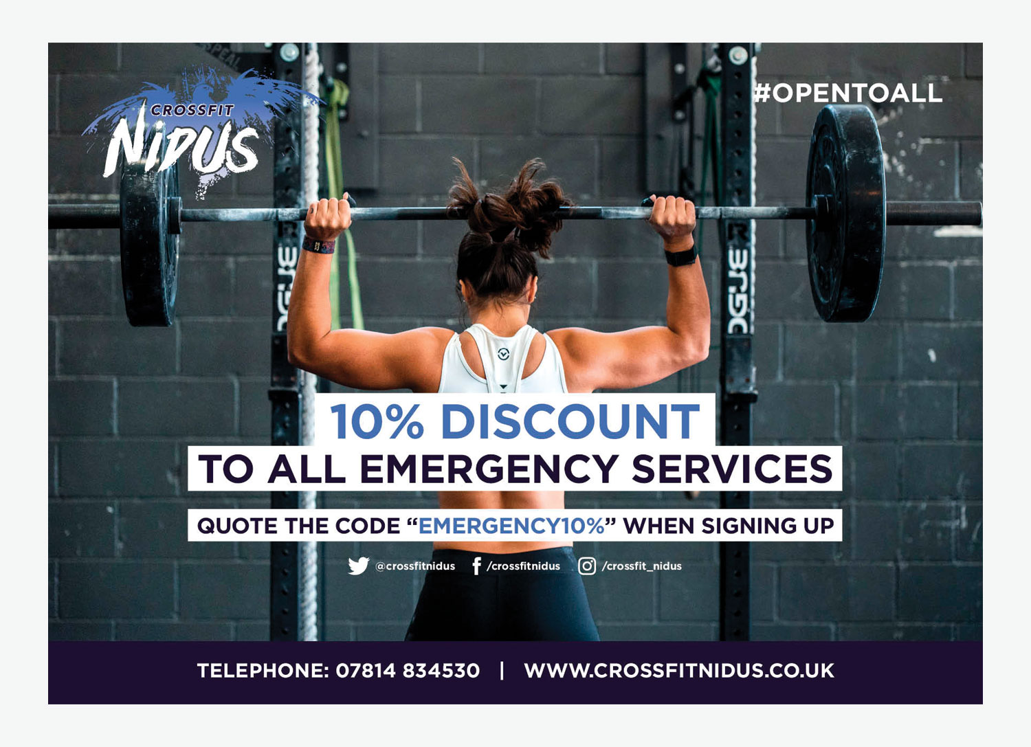 My Name is Dan Services Discount Poster Design for Crossfit Nidus