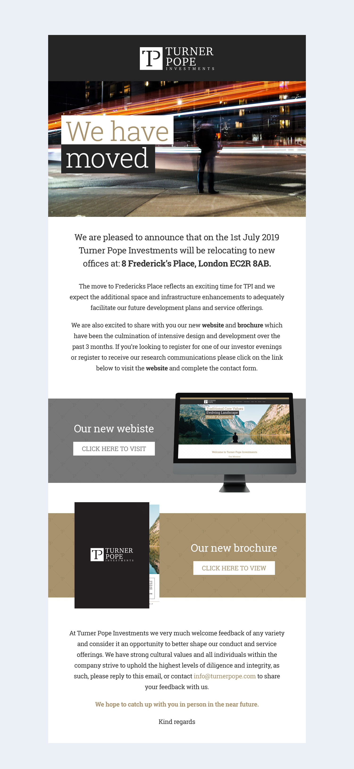 Turner Pope Investments | We Have Moved Full Newsletter