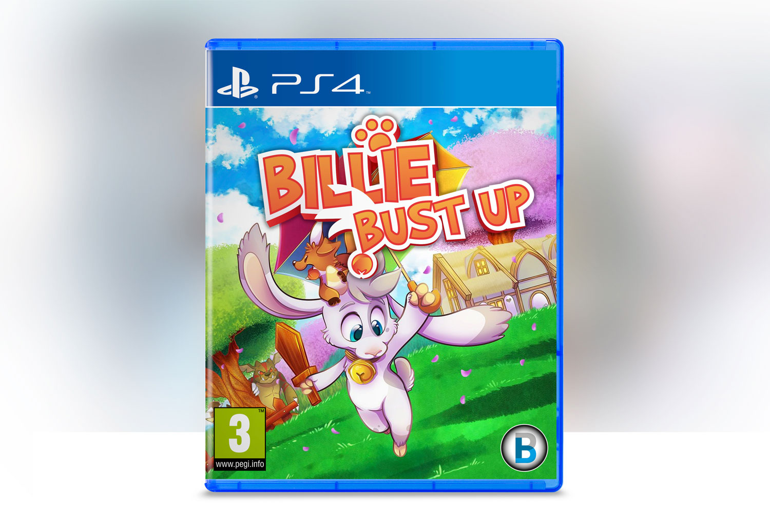 Bilile Bust Up | Indie Game Logo Mock Up for Billie Bust Up