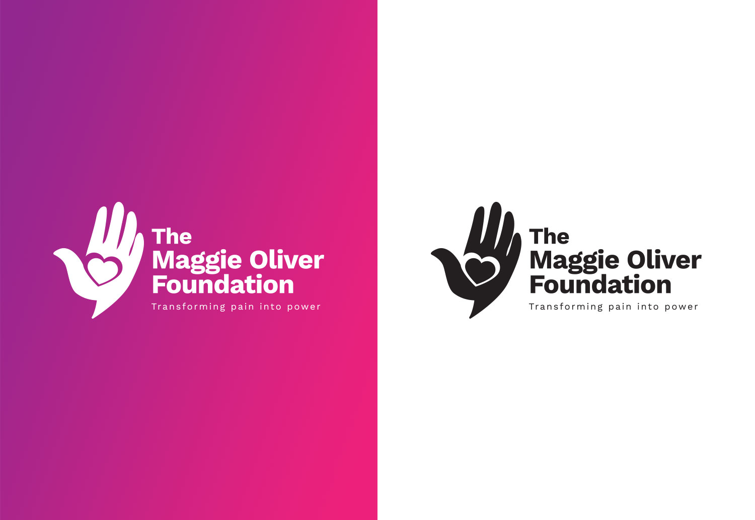 Maggie Oliver Foundation | Final Logo Design in Mono