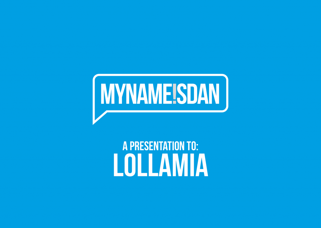 My Name is Dan Logo Presentation for Lollamia