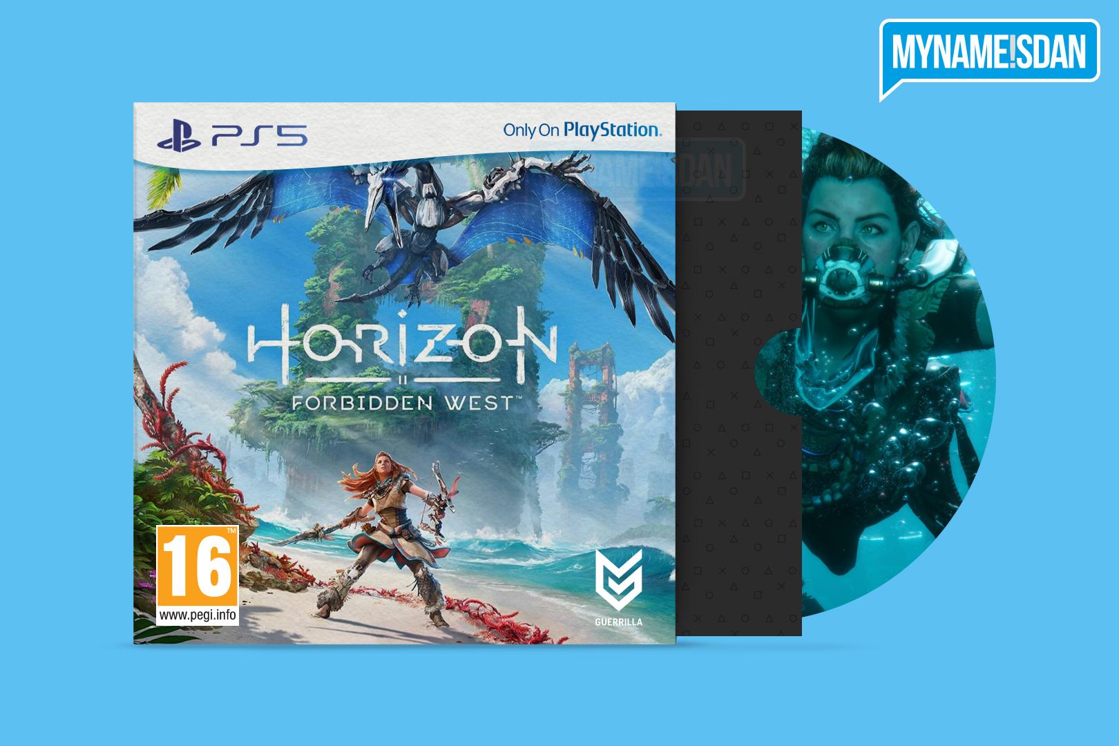 PS5 Cardboard Game Case Concept Design for Horizon Forbidden West